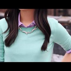 J Crew mint green sweater